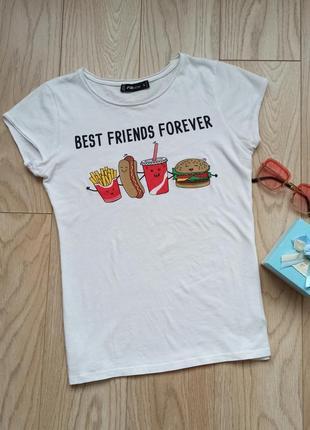 Белая хлопковая футболка, р. s-m
