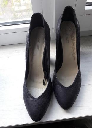 Офигенные, новые,  туфли с тиснением под рептилию, нат.кожа, welfare, разм,36-36,5-37 скидка 25%