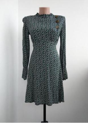 Платье в мелкий цветочек, винтажное платье
