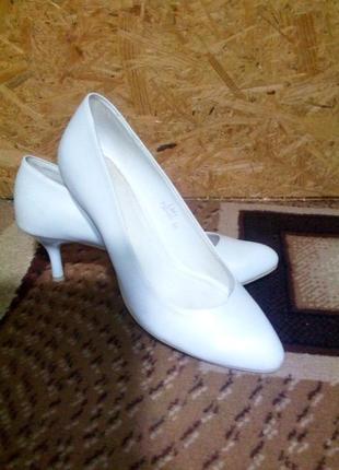 Свадебные туфли кожанные
