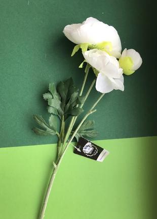 🌸 веточка искусственных цветов (ранункулюс, лютик) в интерьер