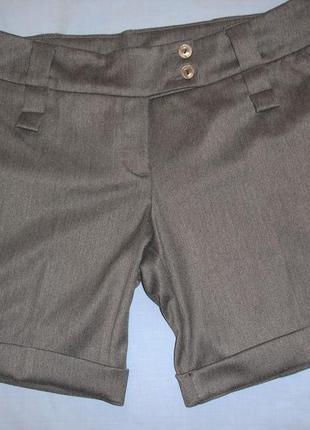 Шорты шортики женские осенние весенние размер 46-48 / 12-14 короткие тренд модные