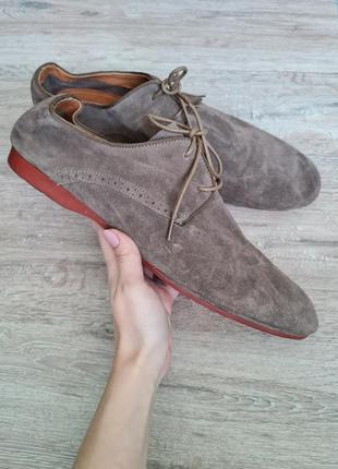Туфлі чоловічі замш minelli мужские туфли удобные мягкие кожа замш
