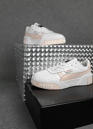 Puma cali белые с пудрой