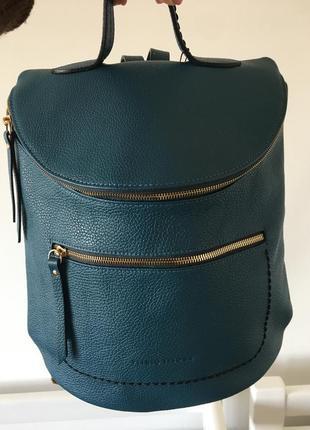 Бирюзовый кожаный рюкзак