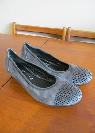 Кожаные туфли, балетки, мокасины gabor германия