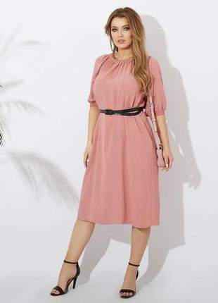 Платье миди батал