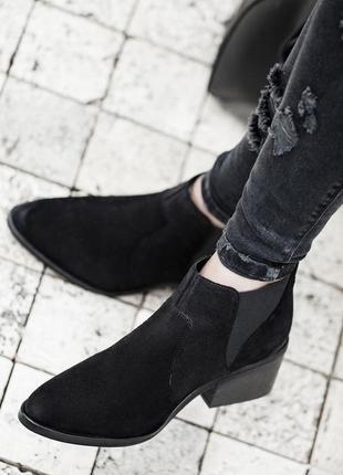 Кожаные суперстильные сапоги ботинки  bershka 36,37,38,39,40