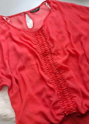 Блуза шифон майка легкая 18 uk l xl 46 евр 48 50 52