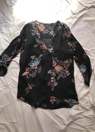 Шелковая кофта с ярким принтом /кофточка /блуза