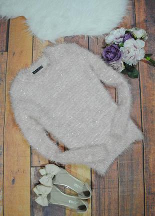 Розовый свитер-травка с пайетками 8059 atmosphere размер uk12/40 (m/l)