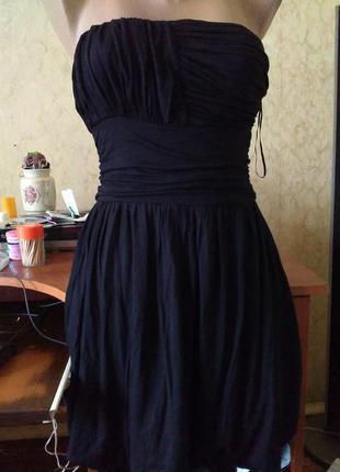 Чёрное коктейльное платье 36.распродажа.