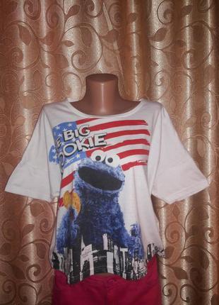 Стильная женская футболка с принтом topshop