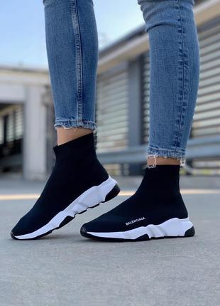 Женские чёрные кроссовки кеды носки,чулки стрейчевые