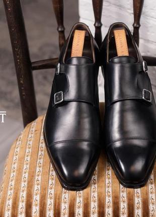 Подвійні монки люкс класса crockett&jones, англия 45р мужские туфли