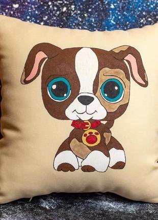 Акция! бесплатная доставка нп! декоративная подушка «щеночек»