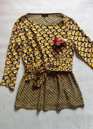 Яркая стильная блузка 100% вискоза