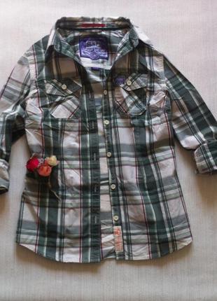 Рубашка superdry размер м 100% коттон