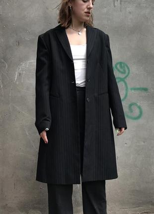 Пиджак чёрный в полоску
