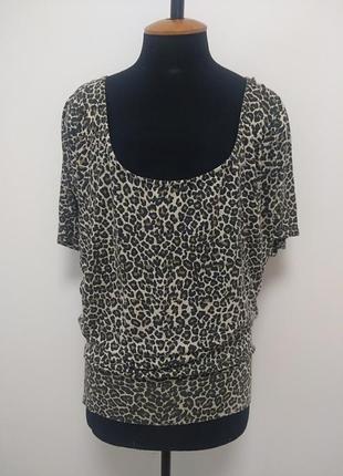 Леопардовая блуза футболка вискоза супер лёгкая