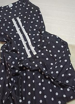 Платье с заниженной талией в горошек .. сарафан. летнее платье