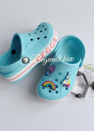 Детские кроксы crocs сабо bayaband для девочек c7-j2
