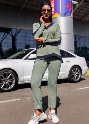 Костюм женский с брюками футболка демисезон весна лето