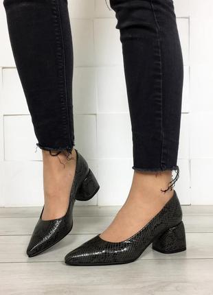 Женские кожаные туфли  жіночі туфлі весна 👠