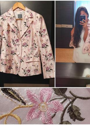 Супер актуальный шелковый жакет с вышивкой от премиального бренда marc aurel