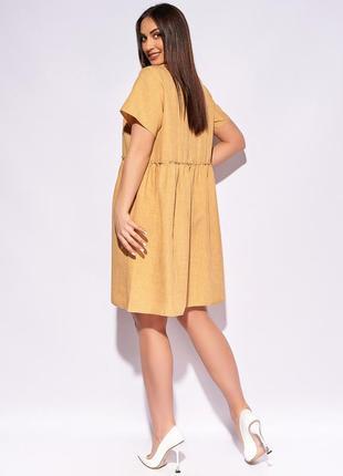 Женское платье короткое свободное повседневное с короткими рукавами3 фото