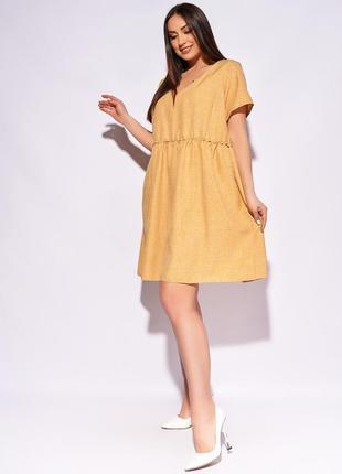 Женское платье короткое свободное повседневное с короткими рукавами2 фото