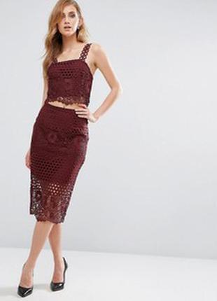 Кружевная  юбка new look