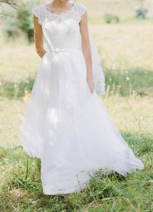 Очень нежное свадебное платье! не венчанное!