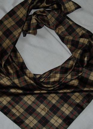 Мужской платок в клеточку под бербери - 94х94