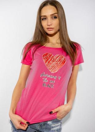 Женские футболка малинового цвета
