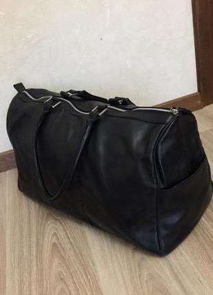 Кожаная дорожная сумка zara