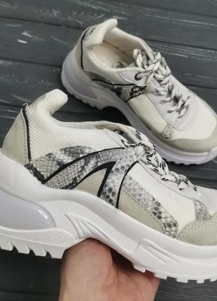 Суперские, трендовые кожаные кроссовки
