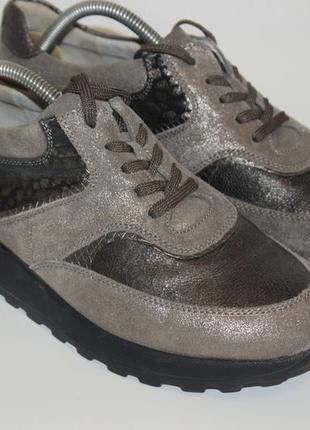 Кожаные кроссовки waldlaufer