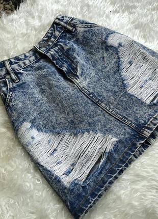 Актуальная джинсовая юбка джынсовая юбка