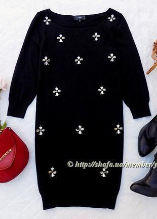 Мягкий свитер-туника в камнях next, размер 16 (см. замеры)