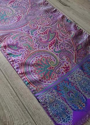 Шелковый винтажный шарф ignas uomo by romy hubegger