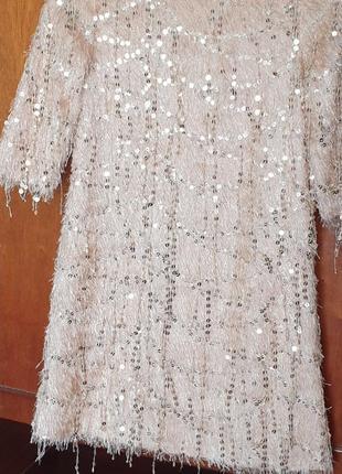 Платье золотое с паетками!