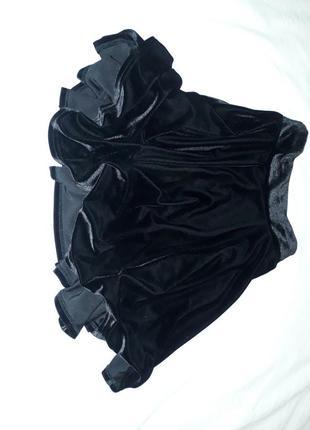 Бархатная черная юбка в идеальном состоянии из франции