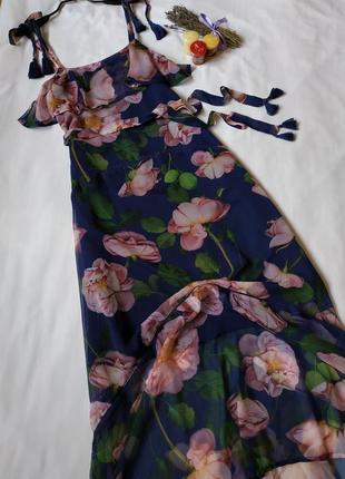 Нова розкішна шифонова сукня на бретелях