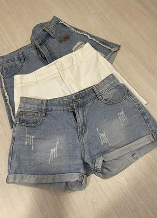 Шорты джинсовые средняя посадка