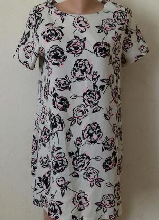 Красивое платье прямого кроя с принтом цветы new look