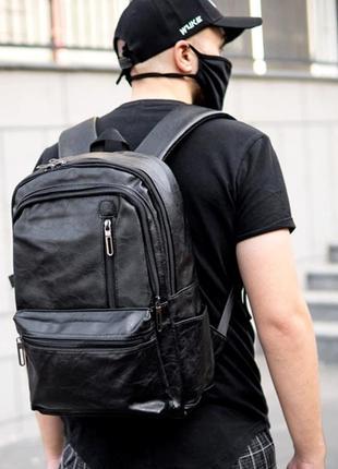 Крутой кожаный портфель. кожаный рюкзак. сумка. мужской рюкзак для ноутбука