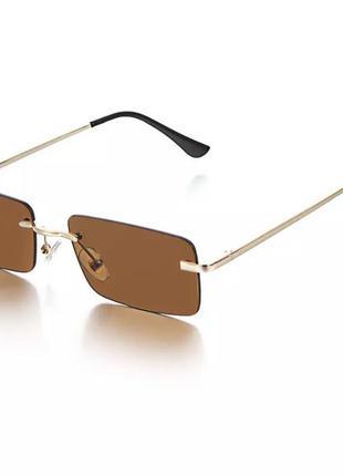 Трендовые солнцезащитные очки без оправы 2021 прямоугольные