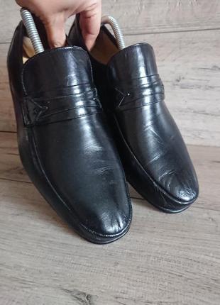 Туфли лоферы пьер карден pierre cardin 41р 26 см кожа