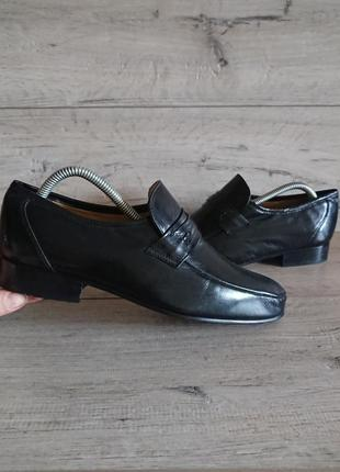 Туфли лоферы пьер карден pierre cardin 41р 26 см кожа3 фото